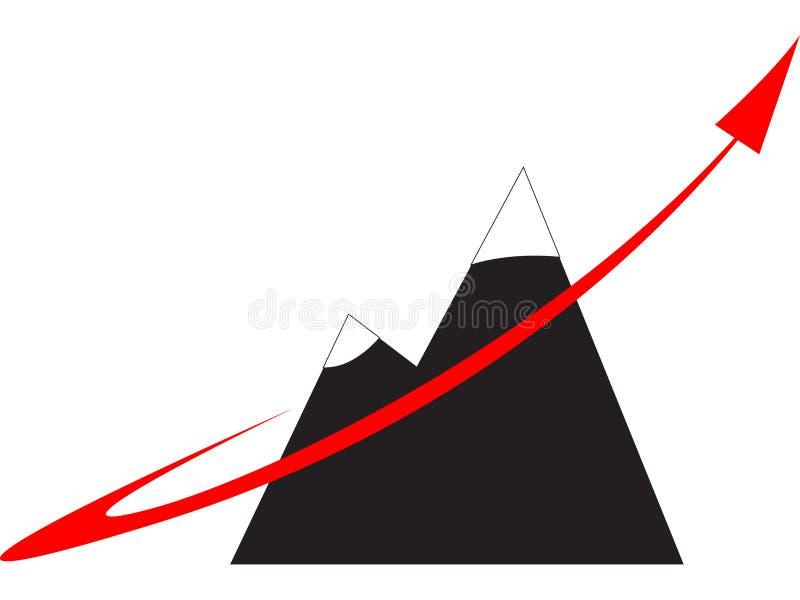 Het snelle embleem van het de groeibedrijf vector illustratie