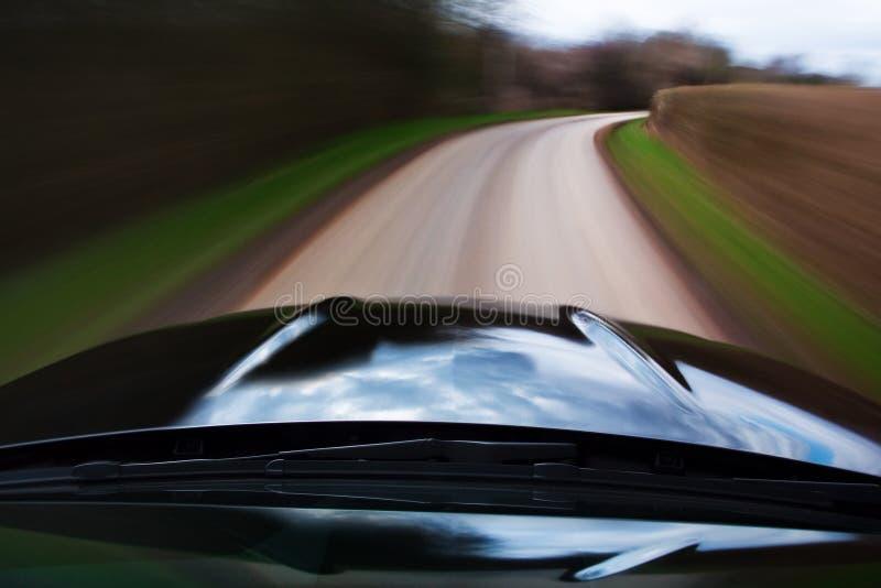 Het snelle onduidelijke beeld van de automotie stock afbeelding