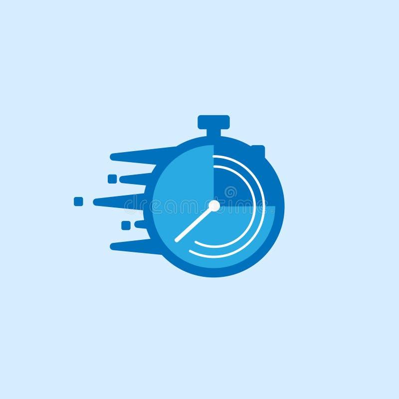 Het snelle pictogram van de tijdlevering, de geschikte dienst, vector illustratie