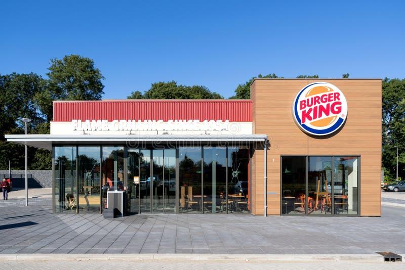 Het snelle voedselrestaurant van Burger King in Spijkenisse, Nederland royalty-vrije stock foto's