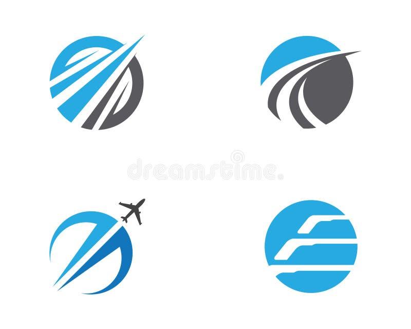 Het snellere vectorpictogram van Logo Template stock illustratie