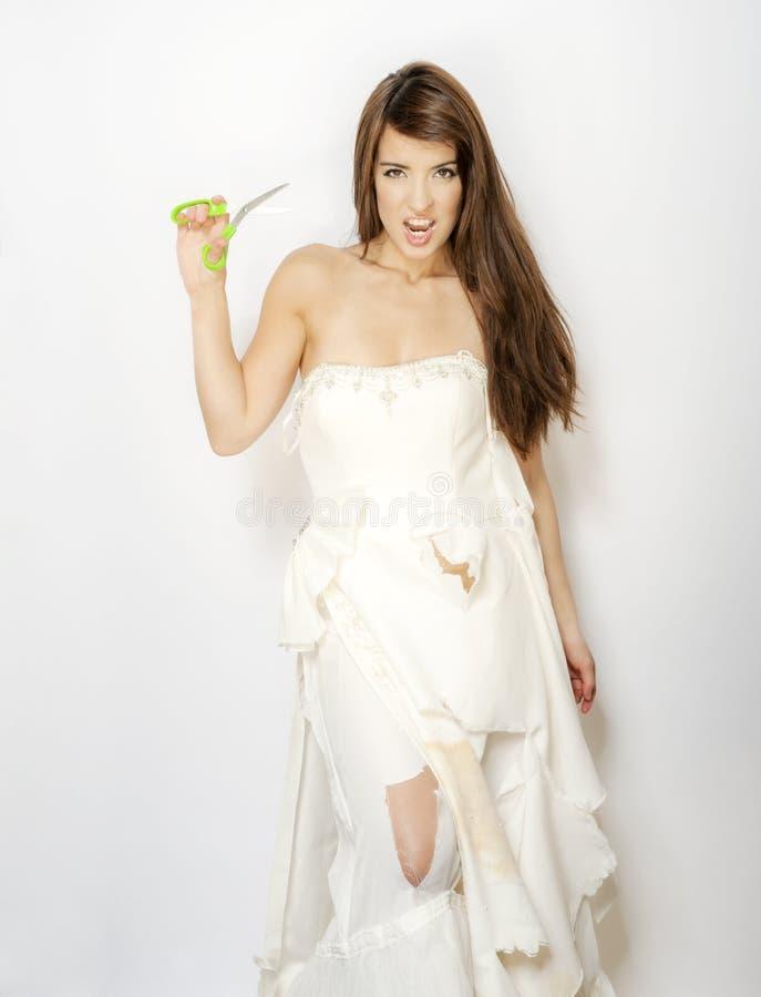 Het snijden van de kleding royalty-vrije stock foto