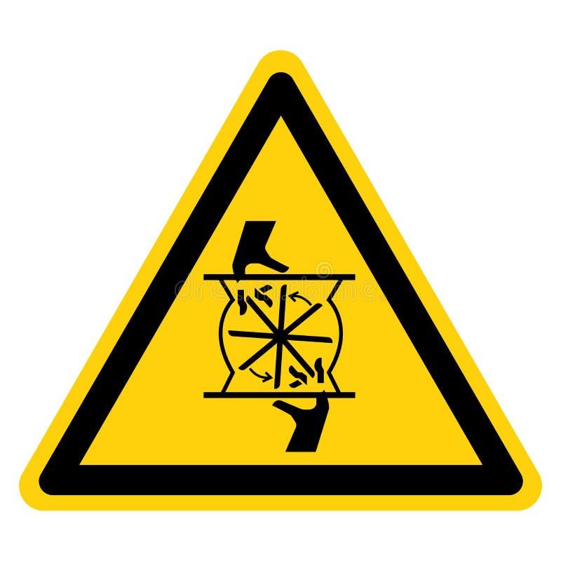 Het snijden van Vingers die het Teken van het Bladsymbool roteren isoleert op Witte Achtergrond, Vectorillustratie royalty-vrije illustratie