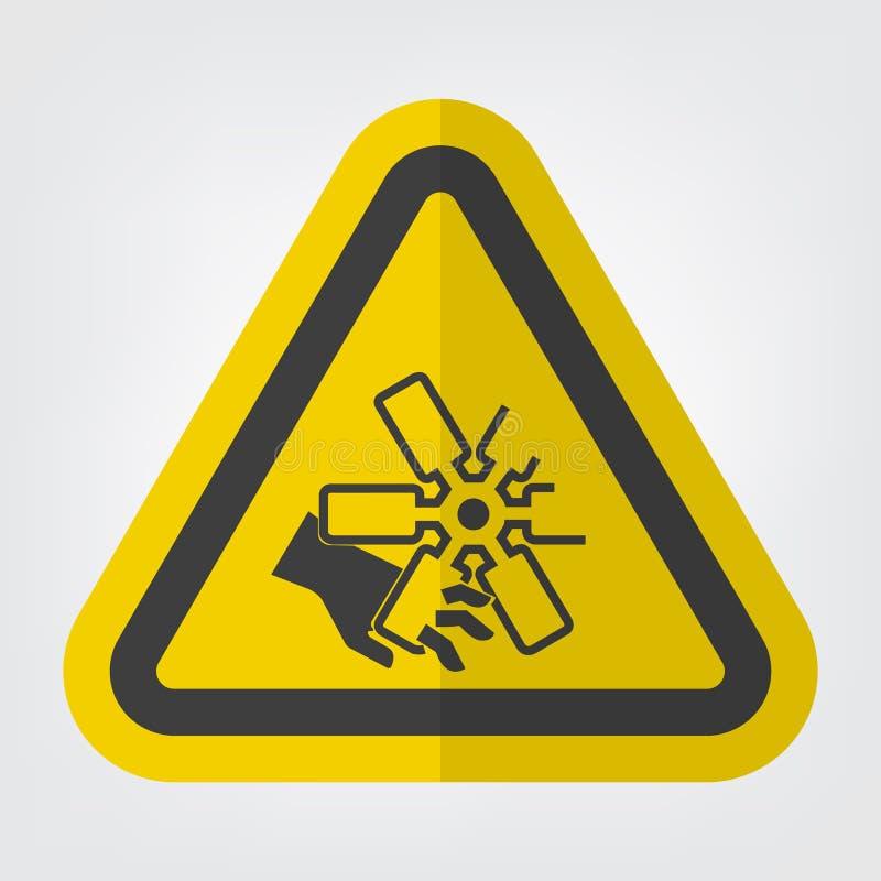 Het snijden van Vingers of het Teken van het de Ventilatorsymbool van de Handmotor isoleert op Witte Achtergrond, Vectorillustrat vector illustratie