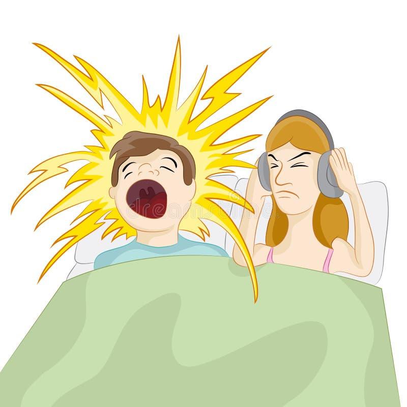 Het snurken Echtgenoot stock illustratie