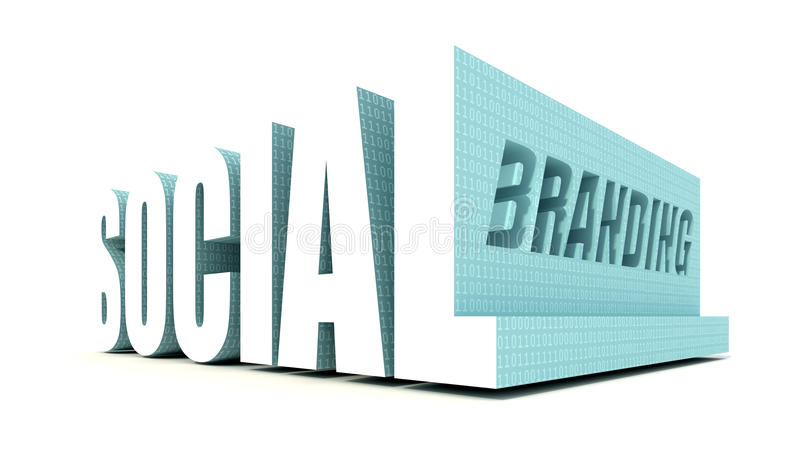 Het sociale Brandmerken stock illustratie