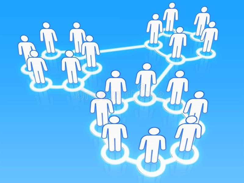 Het sociale 3D concept van netwerkgroepen stock illustratie
