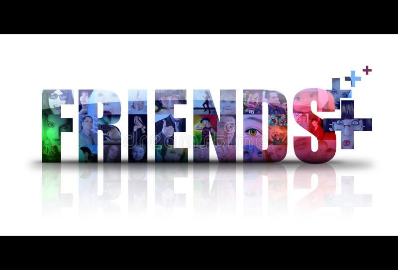 Het sociale Embleem van het Pictogram van Vrienden royalty-vrije illustratie