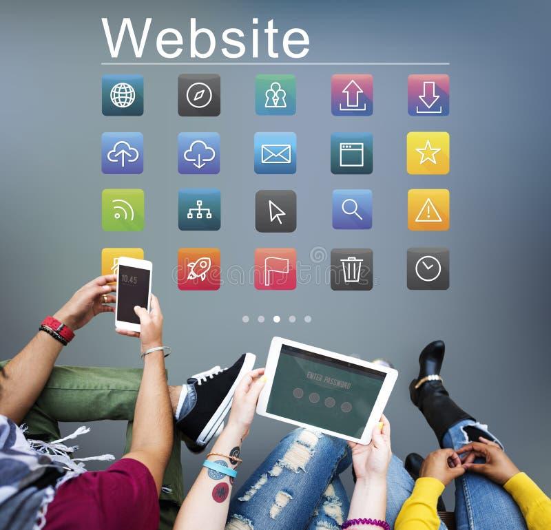 Het sociale Media Concept van Websitesymbolen stock illustratie