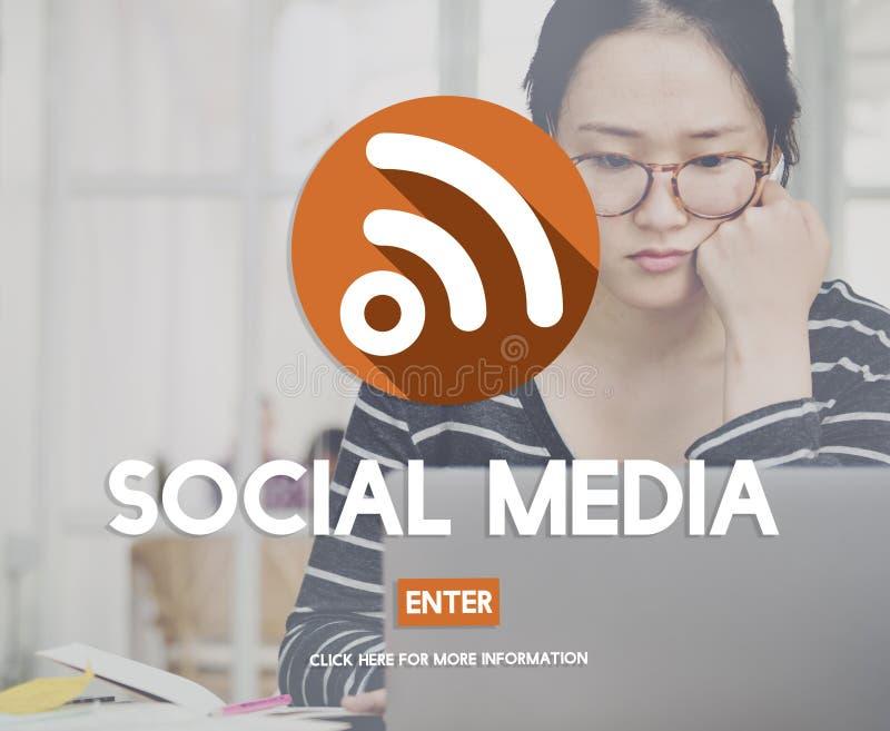 Het sociale Media Draadloze Concept van de Globaliseringsverbinding stock afbeeldingen