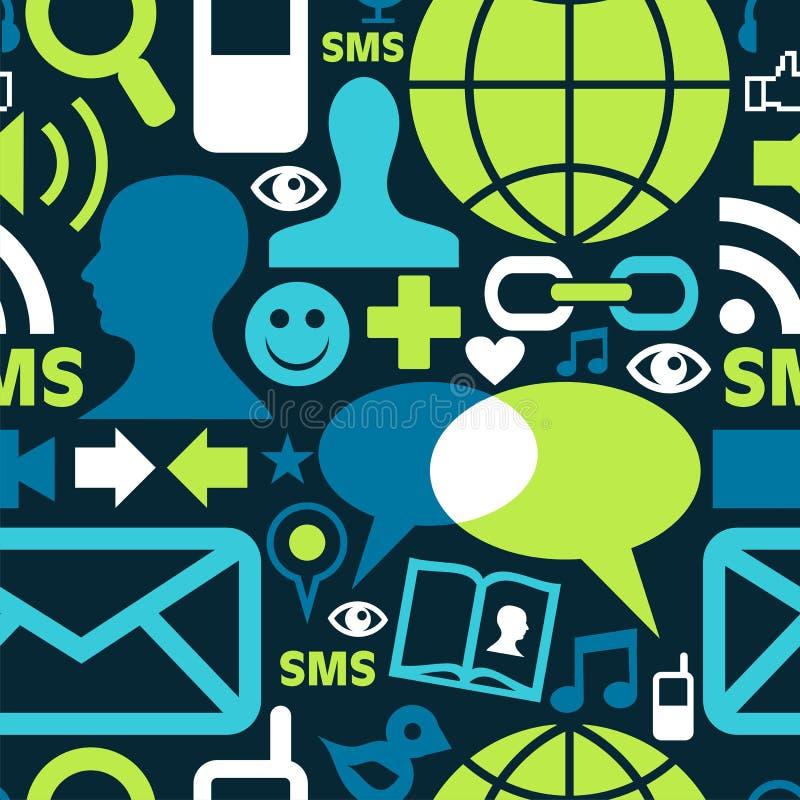 Het sociale media patroon van netwerkpictogrammen royalty-vrije illustratie
