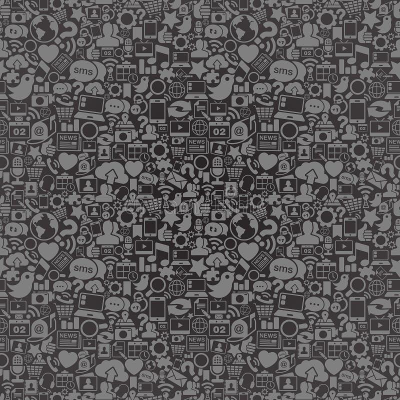 Het sociale Naadloze Patroon van Media vector illustratie