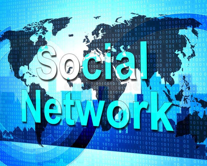 Het sociale Netwerk betekent verbindend Mensen en Forums vector illustratie