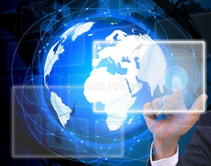 Het sociale netwerk. Internet en telecommunicatieconcept stock foto's