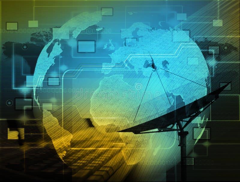 Het sociale netwerk Internet en telecommunicatieconcept royalty-vrije stock afbeeldingen