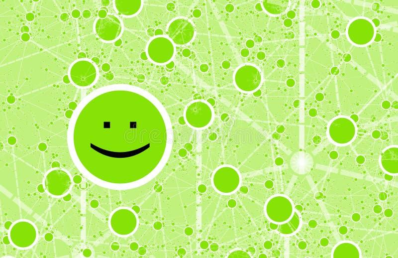 Het sociale Netwerk van de Vriend van de Cirkel Online royalty-vrije illustratie