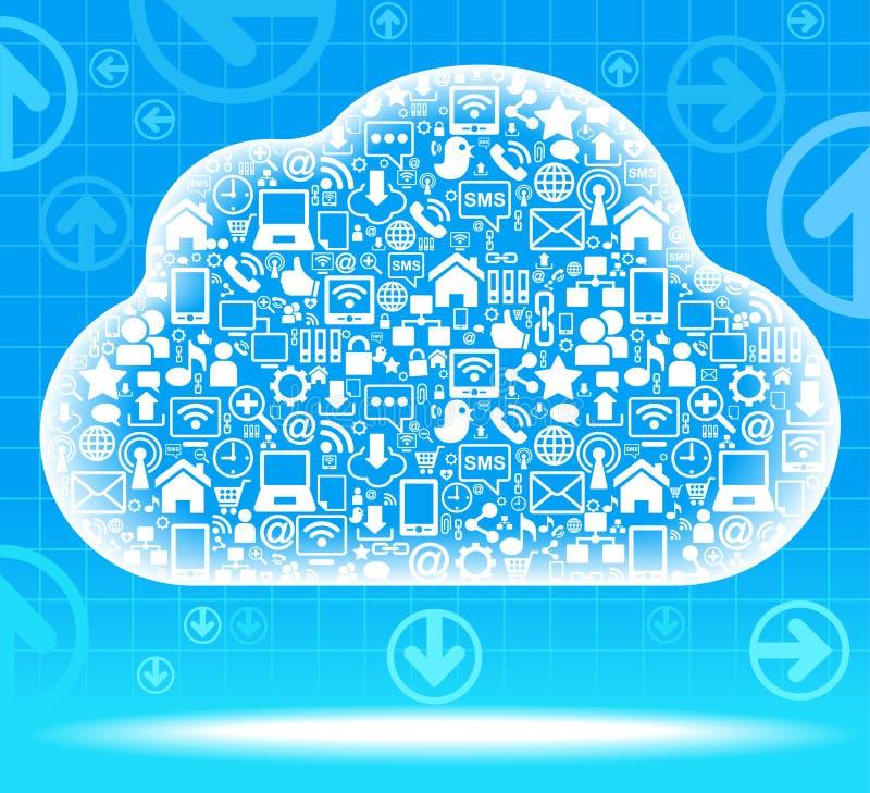 Het sociale netwerk van de wolk royalty-vrije illustratie