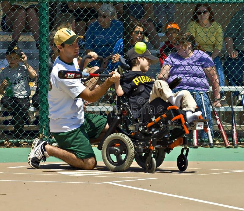 Het Softball van de Liga van het mirakel voor Gehandicapte Kinderen royalty-vrije stock fotografie