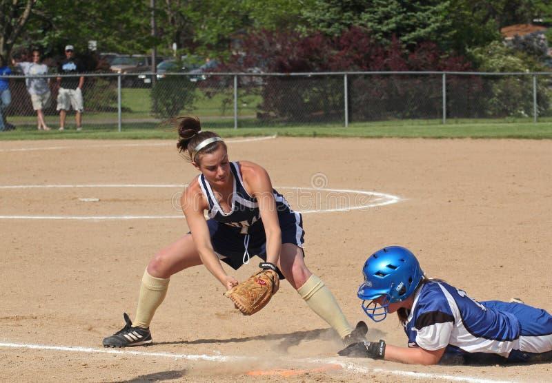 Het Softball van meisjes royalty-vrije stock foto