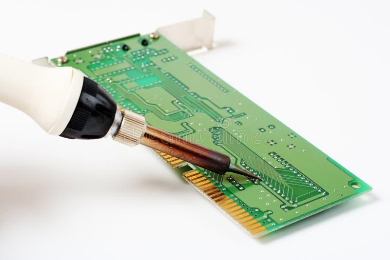 Het solderen stock afbeelding