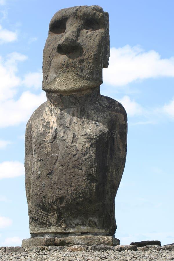 Het Solitaire Standbeeld van het Eiland van Pasen royalty-vrije stock fotografie