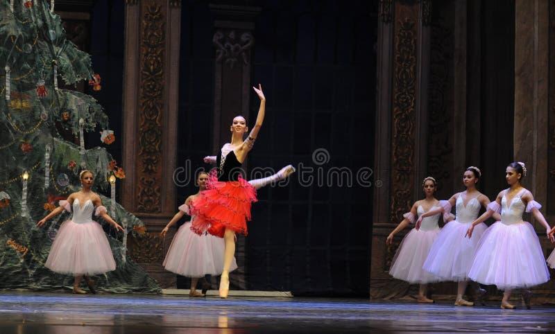 Het Spaanse stijlmeisje het het suikergoedkoninkrijk van het tweede handelings tweede gebied - de Balletnotekraker royalty-vrije stock fotografie
