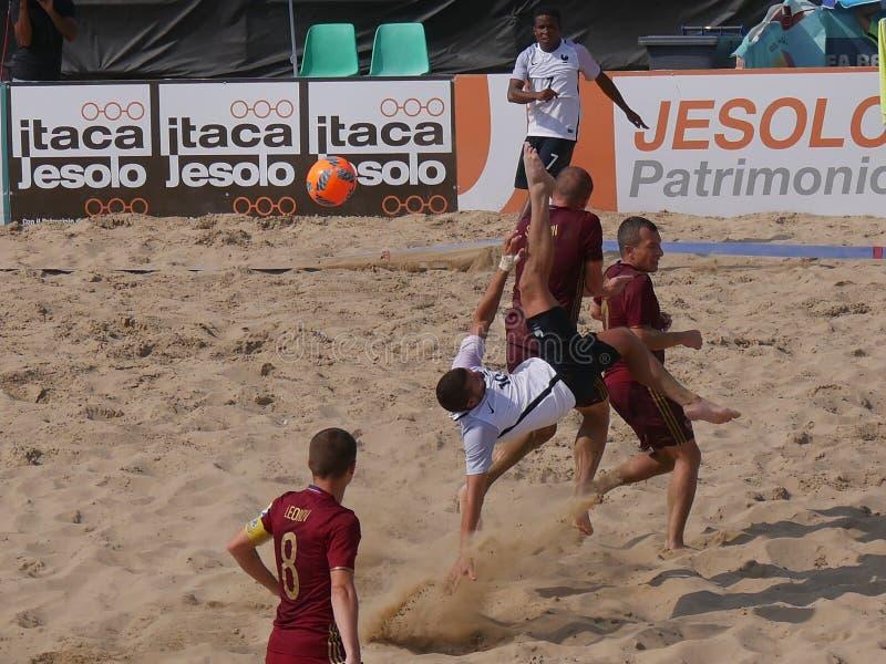 Het Spaanse Team van het Strandvoetbal stock fotografie