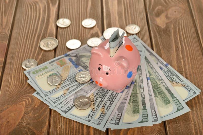 Het spaarvarken van het varken royalty-vrije stock foto