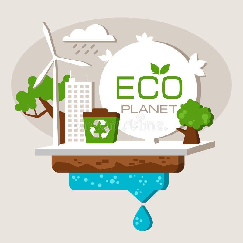 Het sparen en het besteden middelen van de planeet stock illustratie