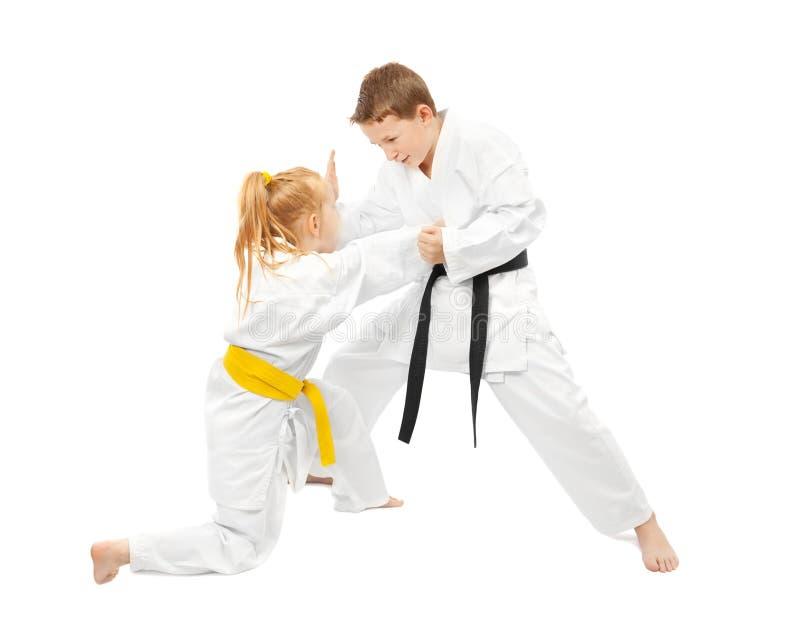 Het sparring van vechtsporten stock foto