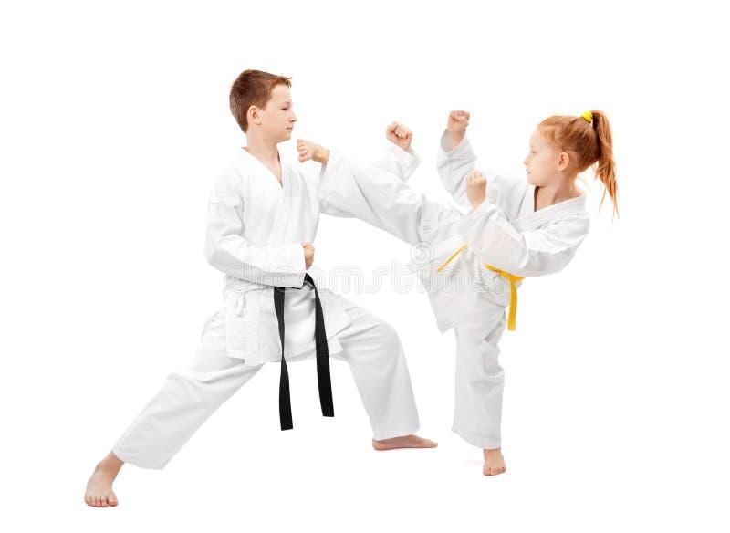 Het sparring van vechtsporten stock fotografie