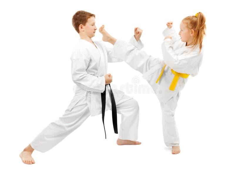 Het sparring van vechtsporten royalty-vrije stock foto