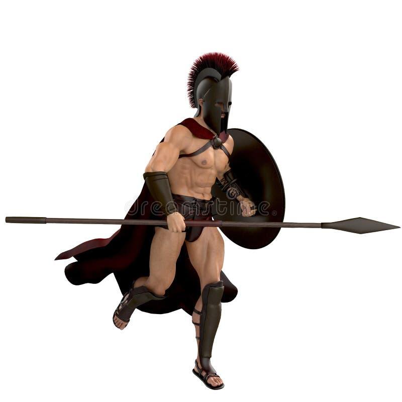 Het Spartaanse lopen vector illustratie