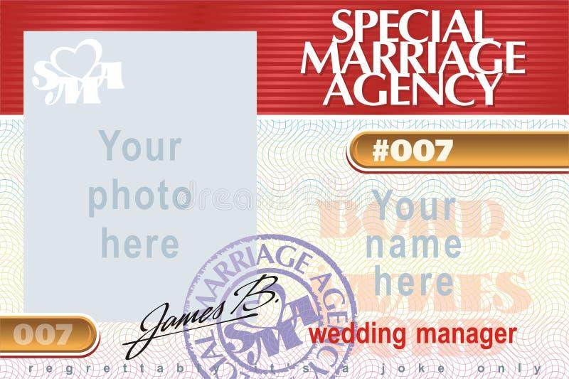 Het speciale Agentschap van het Huwelijk royalty-vrije illustratie