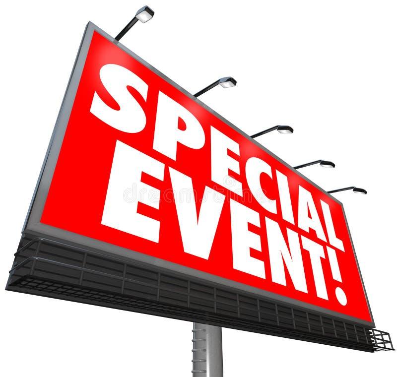 Het speciale Teken die van het Gebeurtenisaanplakbord Exclusive Sale Limited adverteren royalty-vrije illustratie