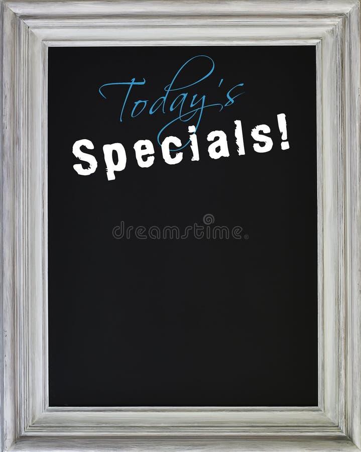 Het specialsmenu van vandaag op bord royalty-vrije stock foto