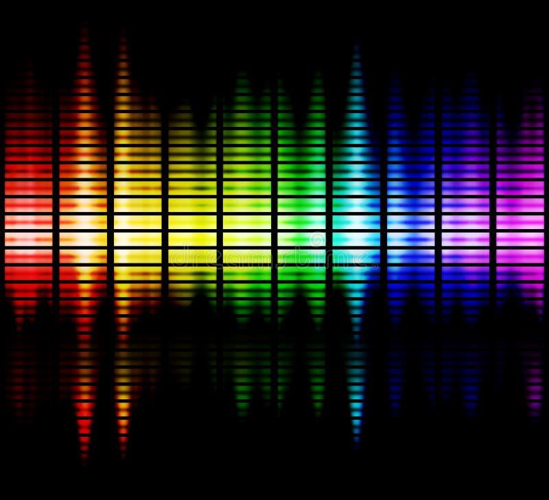 Het spectrum van kleuren royalty-vrije illustratie
