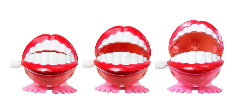 Het Speelgoed van Chatteringstanden stock foto's