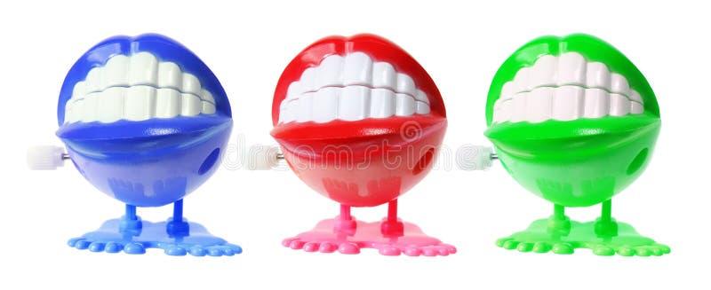 Het Speelgoed van de Tanden van Chattering stock foto's