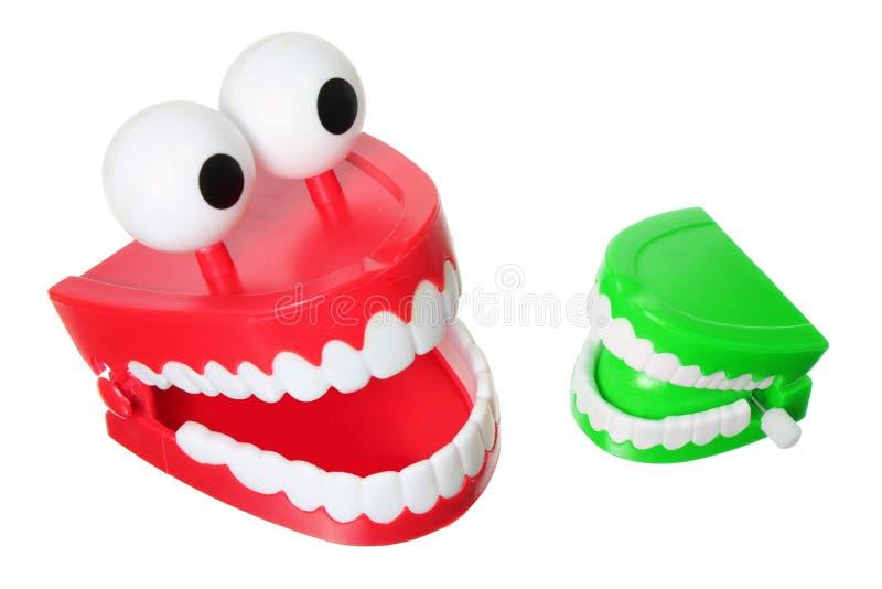 Het Speelgoed van de Tanden van Chattering stock foto