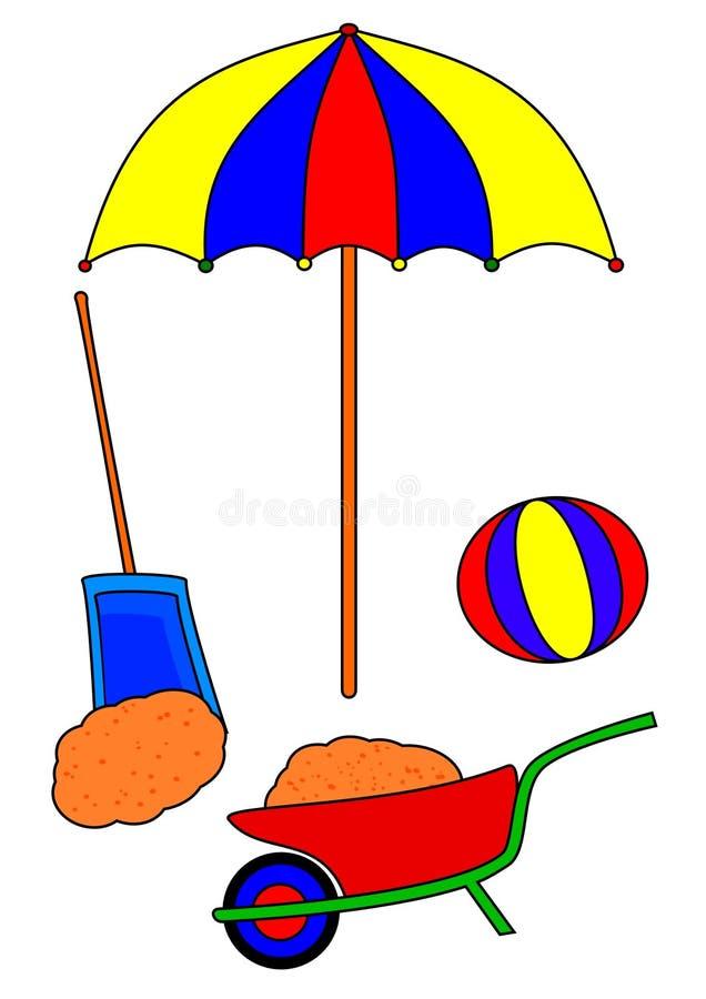 Het speelgoed van het zand royalty-vrije illustratie