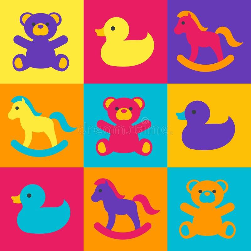 Het speelgoed van Multicolored kinderen stock illustratie