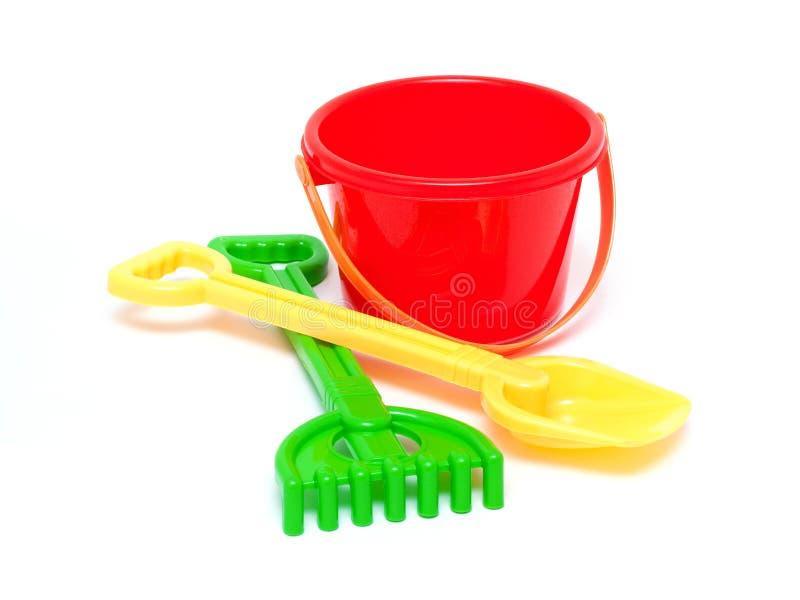 Het speelgoed van Sandpit stock foto