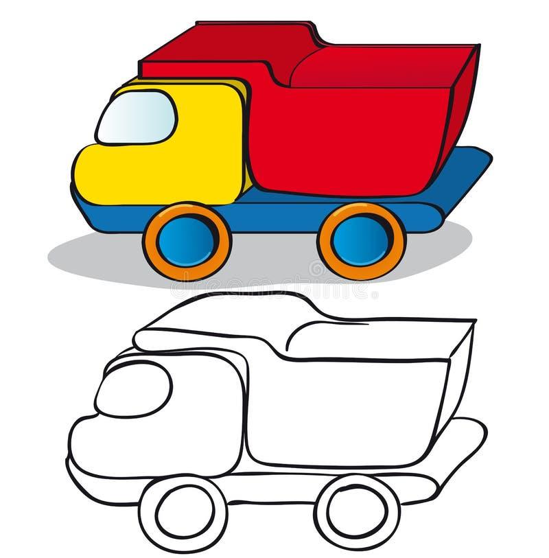 Het speelgoedauto van kinderen stock illustratie