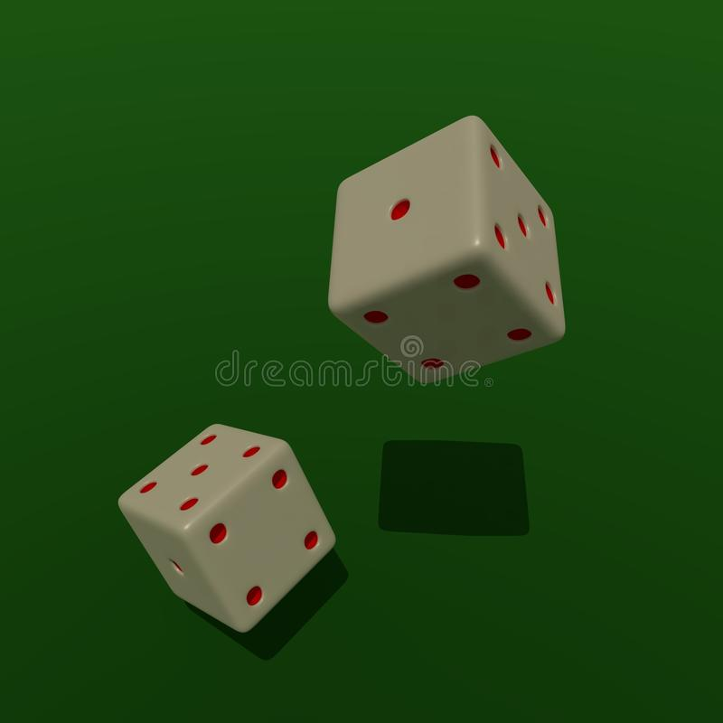 Het spel dobbelt royalty-vrije stock afbeeldingen