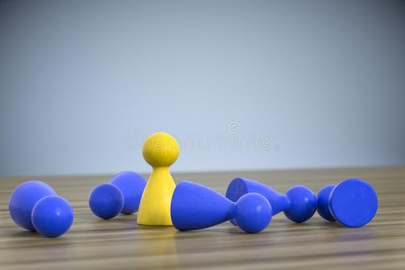 het spel figuur één zich bevindt vijf liggend stock illustratie