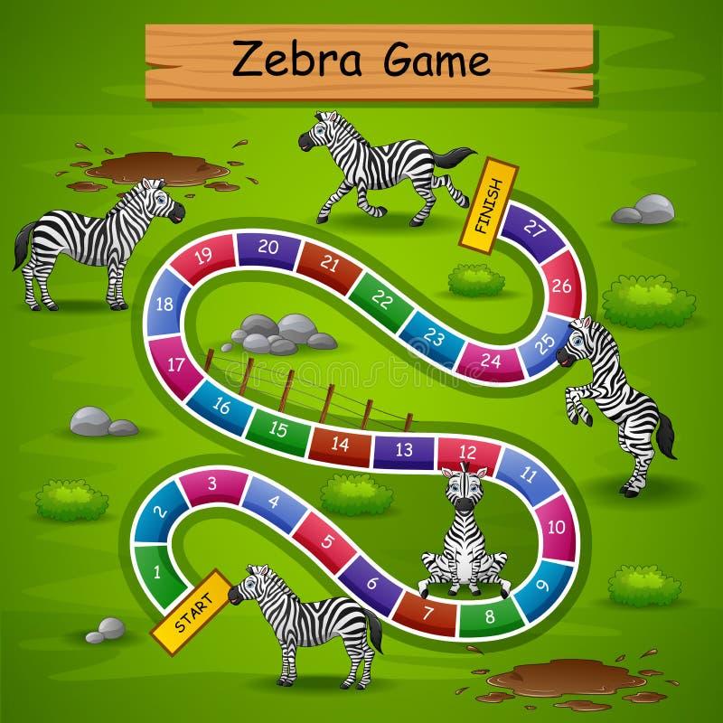Het spel gestreept thema van slangenladders vector illustratie