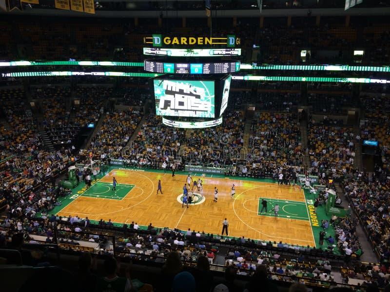 Het Spel van Boston Celtics stock afbeeldingen