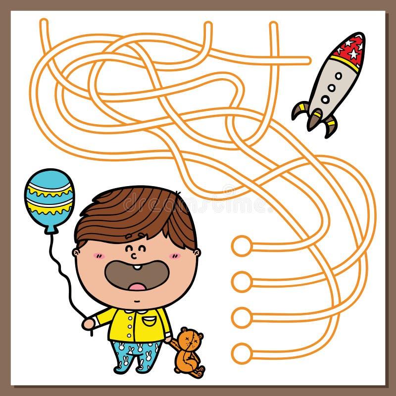 Het spel van de babyjongen vector illustratie