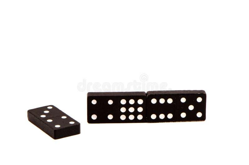 Het spel van de domino stippelt aantal geïsoleerdee witte achtergrond. stock afbeeldingen
